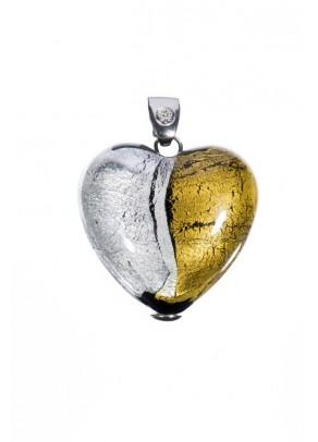 Pandantiv Valentino - Sticla Murano, argint