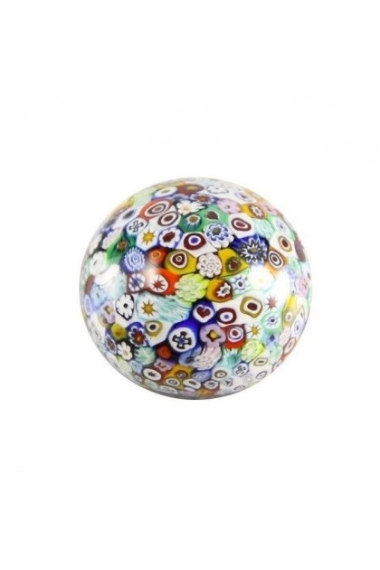 """Flower patch"" Murano Paperweight"