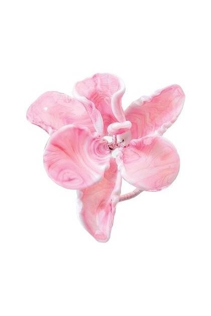 Orhidee decorativa din sticla Murano