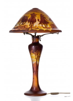 Battle Scenes - Table Lamp-Galle type