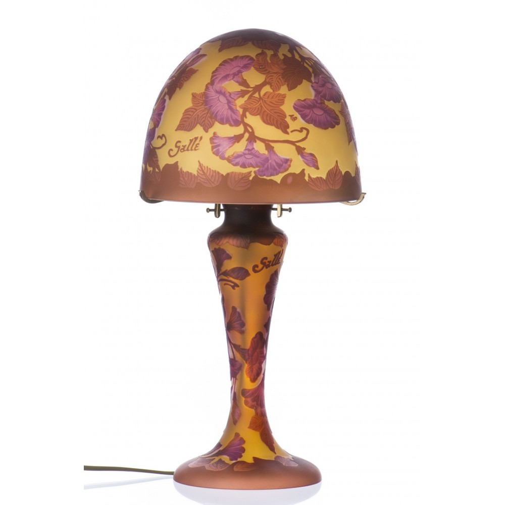Morning glory table lamp galle type handcrafted by glass Types of table lamps
