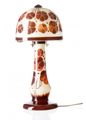 Abstract Pansies Table Lamp - Charder type