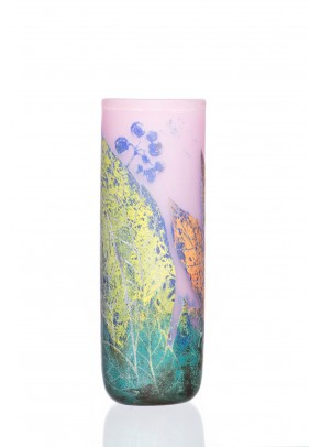 Pastel Leaves Vase - Daum Nancy type