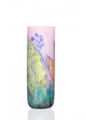 Pastel Leaves Vase - Daum Nancy type