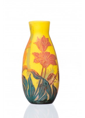 Yellow Lidia Vase - Daum Nancy type