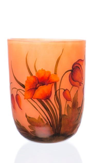 """Vaza tip Daum Nancy """"Orange Poppy"""""""