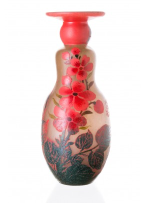Asian Spring Vase - Daum Nancy type