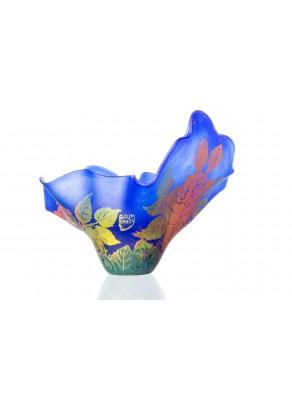 Fructiera tip Daum Nancy Splash of Blue