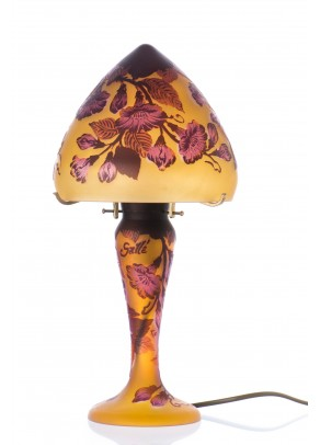 Red Morning Glories Table Lamp - Galle type