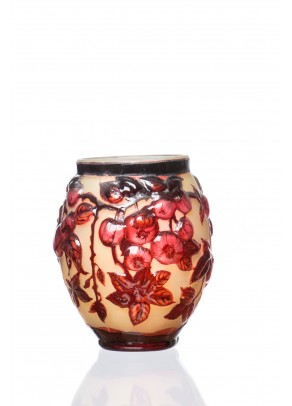 Red Souffle Vase - Galle type