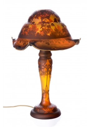 """Oak Trees in Autumn"" Table Lamp - Galle type"