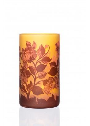 Delicate Peonies Vase - Galle type