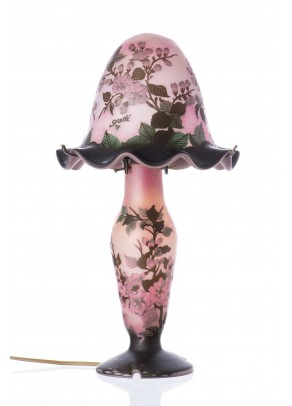 """Pink Spring"" Table Lamp - Galle type"
