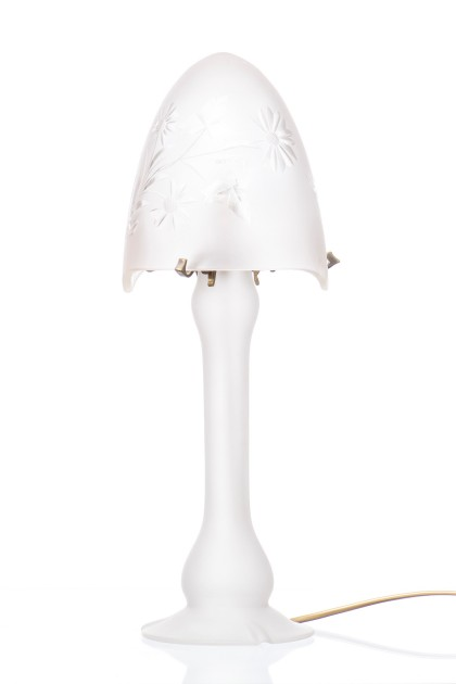 """Frosted Flowers"" Table Lamp-Art Nouveau style"