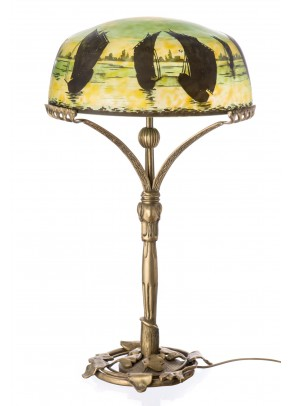"""Black Sails"" Table Lamp - Galle type"