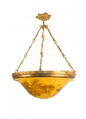 """Golden Harvest"" Chandelier -Galle type"
