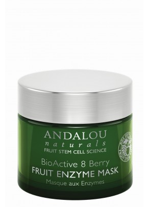 BioActive 8 Berry Fruit Enzyme Mask (with Resveratrol, Coenzyme Q10 and Organic Fruit Stem Cells)