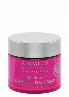 Crema de zi cu extracte organice de trandafir, rodie, macese, acid hialuronic si celule stem din fructe