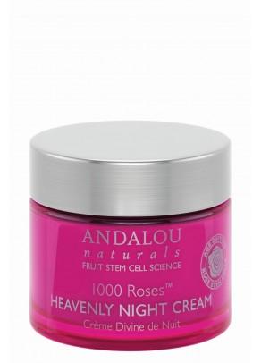 Crema de seara cu extracte organice de trandafir, rodie, macese, acid hialuronic si celule stem din fructe