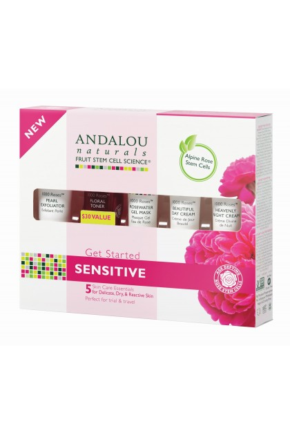 Set cadou cosmetice bio 1000 Roses Andalou Naturals