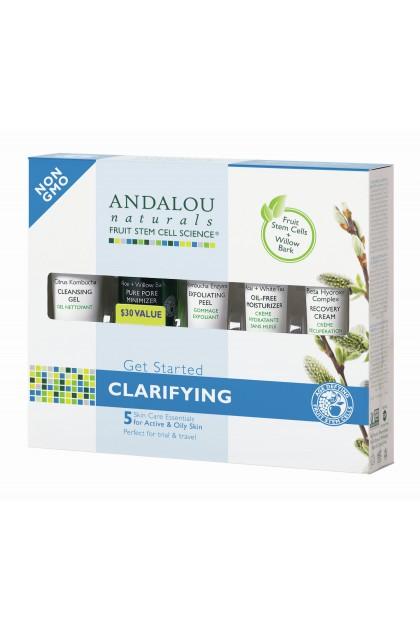 Set cadou cosmetice bio purifiante Andalou Naturals