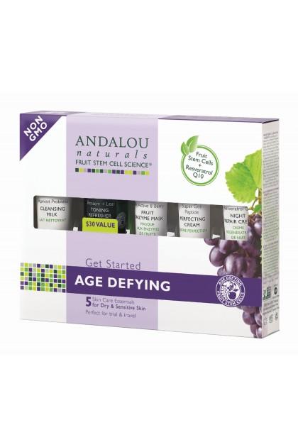 Set cadou cosmetice bio anti-age Andalou Naturals