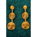Gold-plated Silver Filigree Earrings - Tres Botones