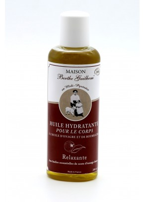 Body oil with organic evening primrose, borage and orange extracts