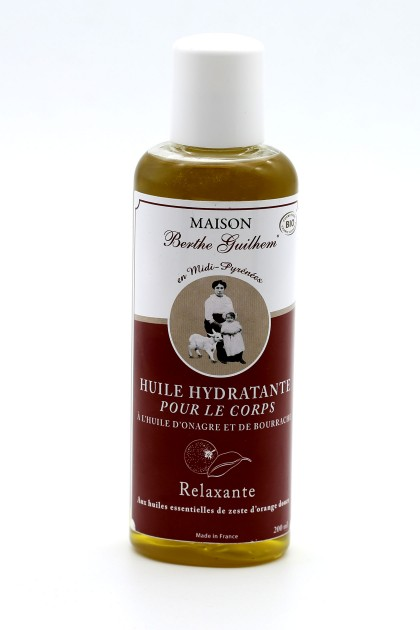 Body oil with organic evening primrose and orange extracts