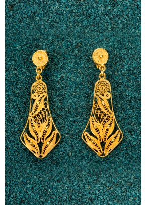 Gold-plated Silver Filigree Earrings - Campanas