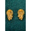 Gold-plated Silver Filigree Earrings - Plumas