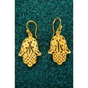 Gold-plated Silver Filigree Earrings - Hamsa