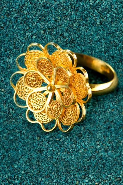 Florecita - Inel din argint placat cu aur