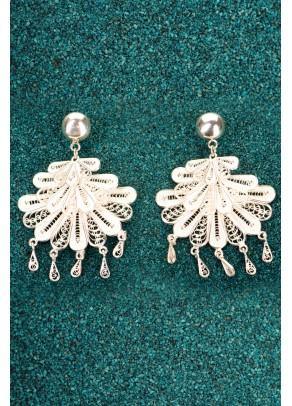 Silver Filigree Earrings - Marinera Dance