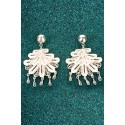 Silver Filigree Earrings - Marinera Dance
