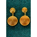 Gold-plated Silver Filigree Earrings - Botones