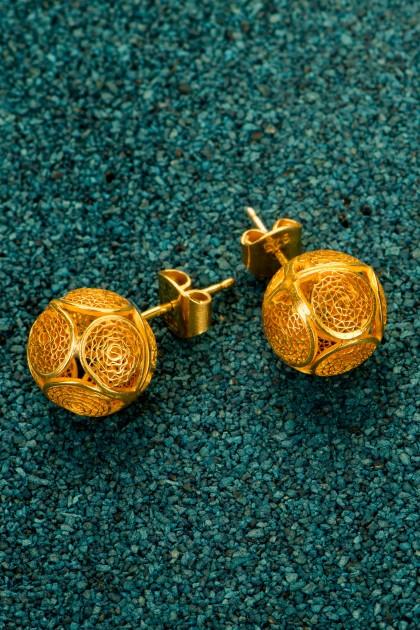Esferas - Gold-plated Silver Filigran Earrings