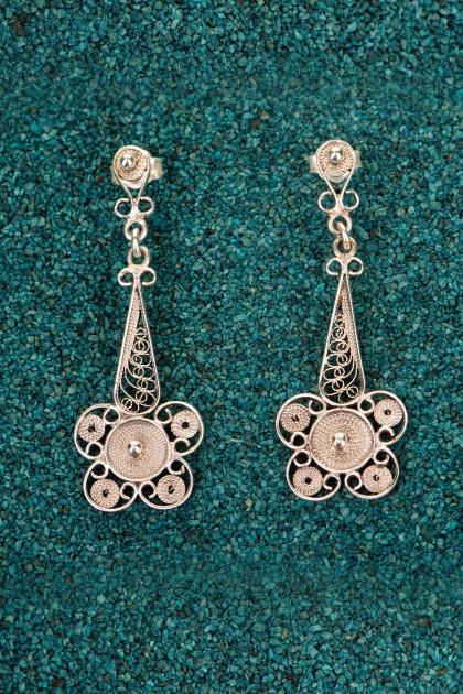 Black Ice Cream - Silver filigran earrings