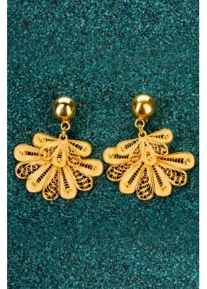Gold-plated Silver Filigree Earrings - Little Marinera
