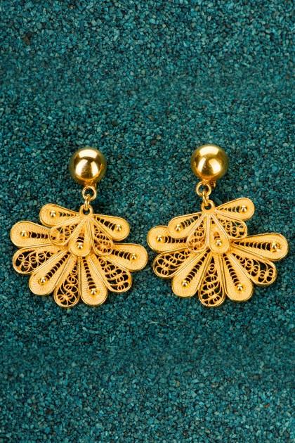 Little Marinera Gold plated Silver Filigree Earrings