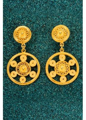 Gold-plated Silver Filigree Earrings - Little Marina