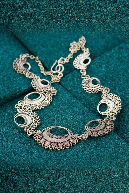 Black Moche - Silver filigree necklace