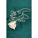 Silver Filigree Pendant - Black Second Diatom