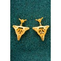 Gold-plated Silver Filigree Earrings - Third Diatom