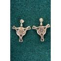 Silver Filigree Earrings - Fourth Diatom