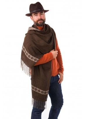 Inca Cross Tierra - baby alpaca and pima cotton double-sided shawl