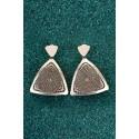 Silver Filigree Earrings - Black Fifth Diatom