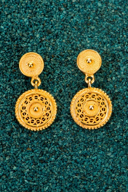 Little Fantasy - Gold plated silver filigree earrings