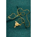 Gold-plated Silver Filigree Pendant - Fourth Diatom