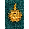 Gold-plated Silver Filigree Pendant - Florecita